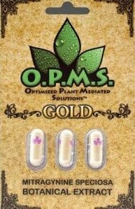 OPMS Gold Kratom is known for its high alkaloid concentration due to the cold extraction process! 3-capsule packages available from Buy Kratom Extracts!
