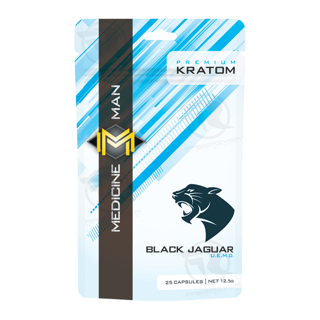 Medicine Man Black Jaguar Ultra Enhanced Kratom 30X Extract (25ct)