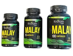 Kratom Kaps Malay Capsules - 3 Sizes