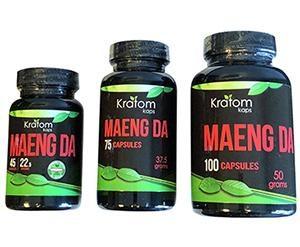 Kratom Kaps Maeng Da Capsules - 3 Sizes